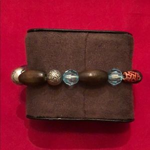 Jewelry - Brown and Blue Bead Bracelet